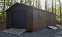 Custom portable garage, 14x32, Chestnut Stain, with 2 windows Butler PA