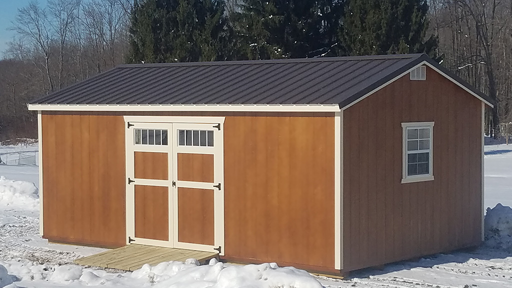 Gable style storage sheds weaver barns for Gable style shed